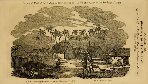 Auna the Tahitian in Honolulu 1824